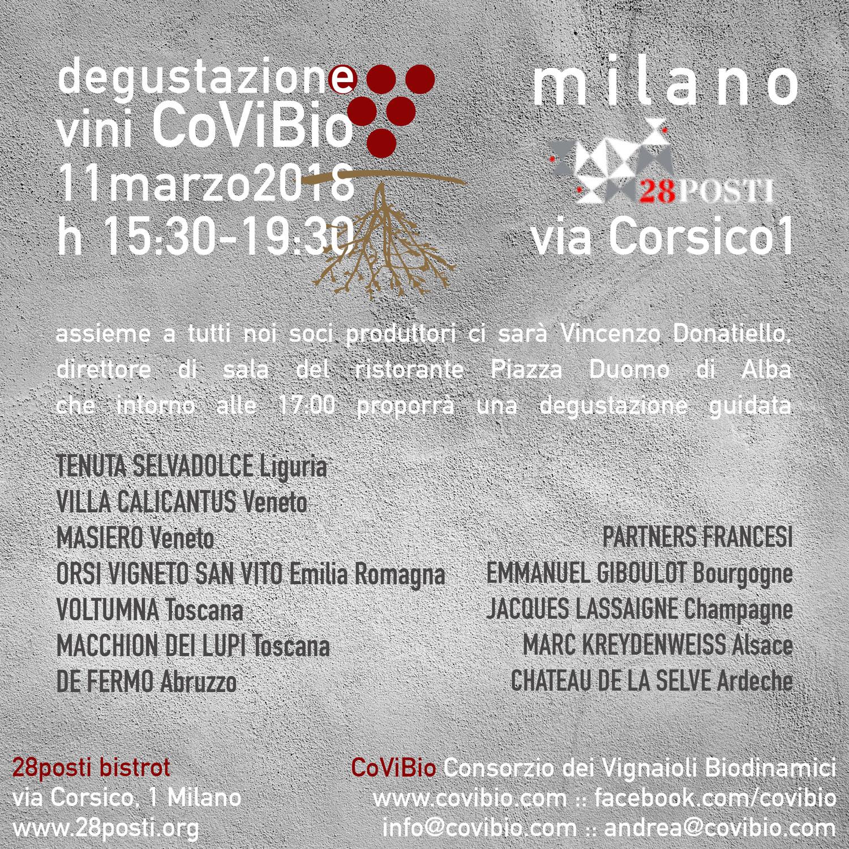 Degustazione Covibio a Milano
